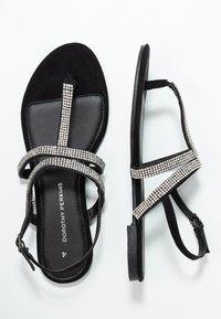 Dorothy Perkins - FARAWAY T-BAR TOEPOST - Sandály s odděleným palcem - black - 3