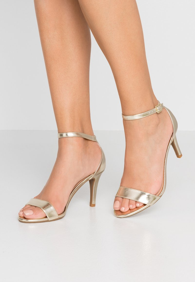 Dorothy Perkins - SIZZLE SKINNY DRESSY - High heeled sandals - gold