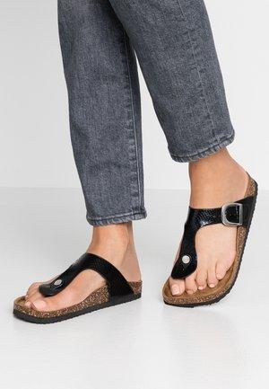 FLEETWOOD - Sandály s odděleným palcem - black