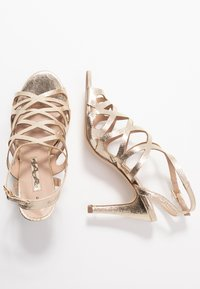 Dorothy Perkins - SPIKE CAGE - High heeled sandals - champagne - 3