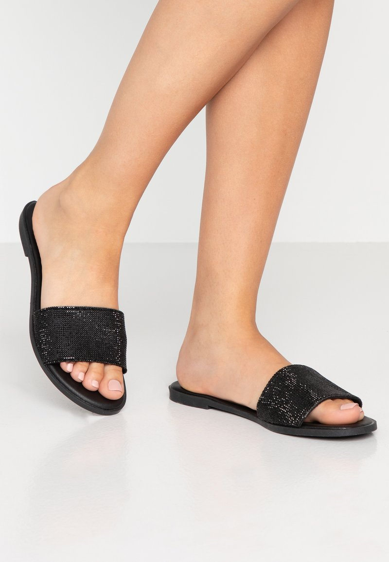 Dorothy Perkins - FLAM JEWELLED - Mules - black