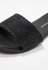 Dorothy Perkins - FLAM JEWELLED - Mules - black - 2