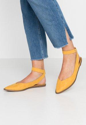 PEPPER ANKLE STRAP  - Slingback ballet pumps - mustard