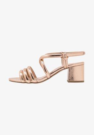 BARBY TUBULAR  - Sandales - rose gold