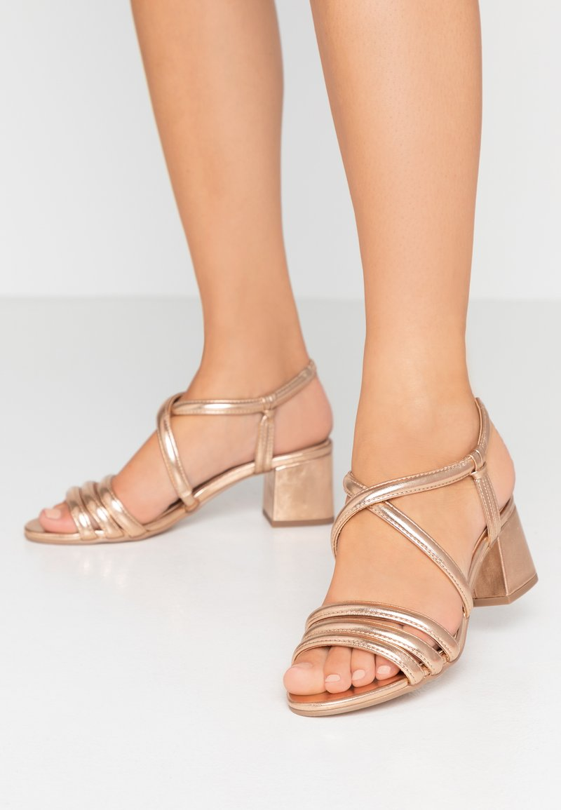 Dorothy Perkins - BARBY TUBULAR  - Sandals - rose gold