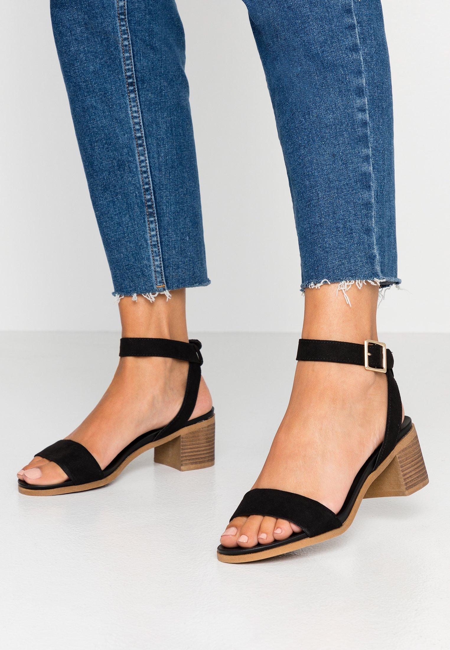 Footbed Stack Black HeelSandales Dorothy Comfort Perkins Barley 3u15FJcTKl