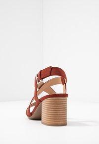 Dorothy Perkins - BEAMER BEAN EASY CROSS OVER STACK HEEL - Sandales - brown - 5