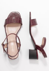 Dorothy Perkins - BRIGHT SQUARE TOE BLOCK HEEL - Sandali - burgundy - 3