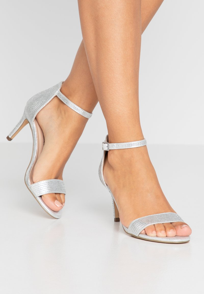 Dorothy Perkins - BESSIE HEATSEAL 2 PART  - Sandals - silver