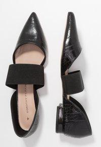 Dorothy Perkins - PLUTO ELASTIC - Ankle strap ballet pumps - black - 3