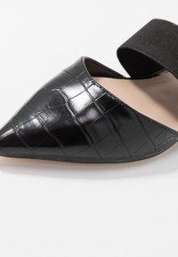 Dorothy Perkins - PLUTO ELASTIC - Ankle strap ballet pumps - black - 2