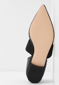 Dorothy Perkins - PLUTO ELASTIC - Ankle strap ballet pumps - black - 6