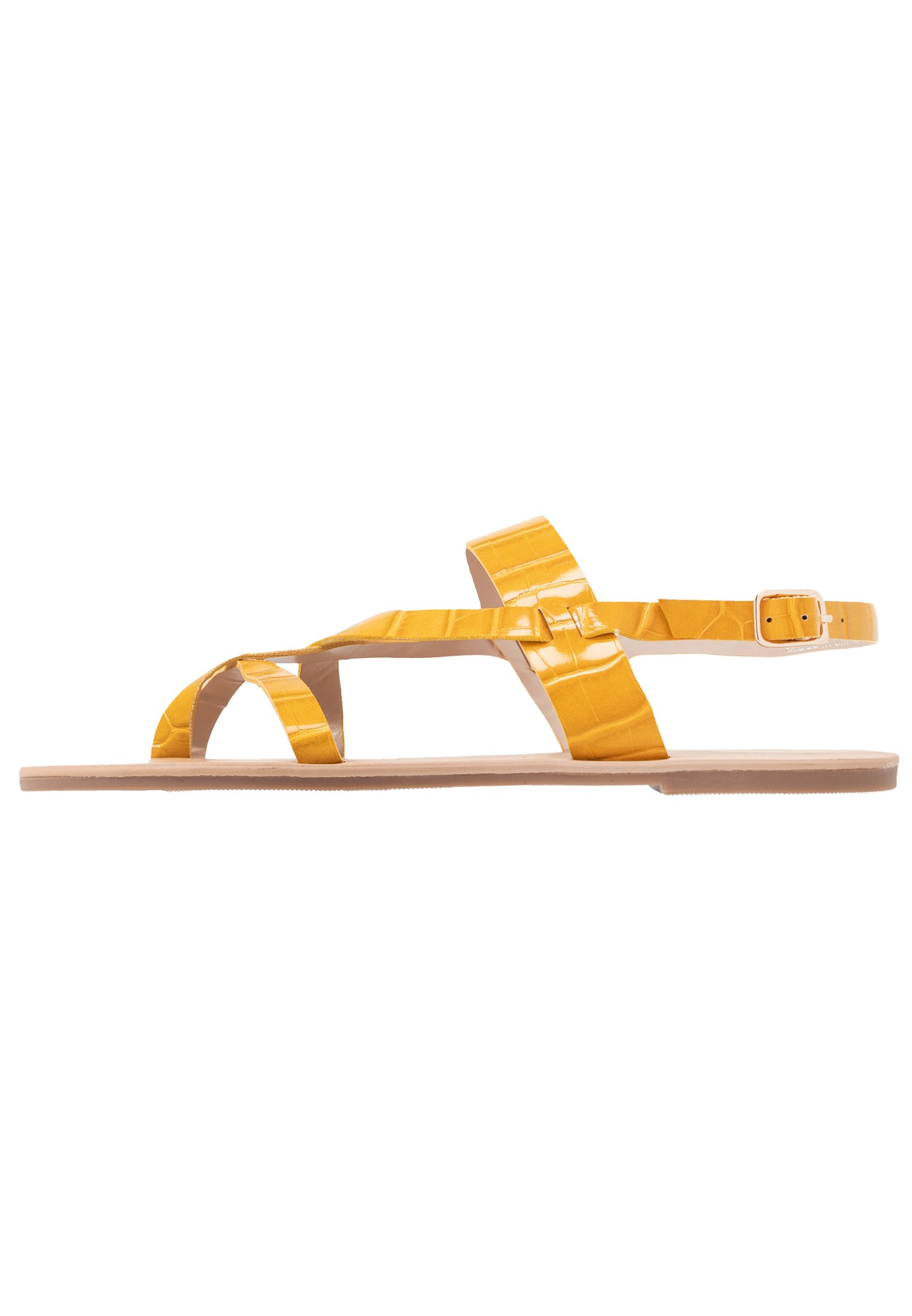 Dorothy Perkins FABIENNE TRIPLE STRAP GLAD T-BAR - Infradito - yellow YqICz41d