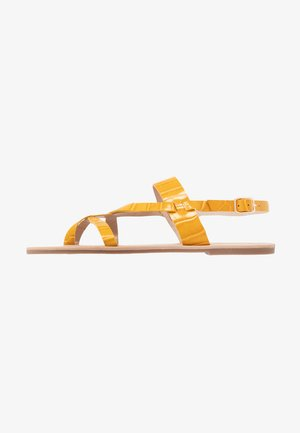 FABIENNE TRIPLE STRAP GLAD T-BAR - Zehentrenner - yellow