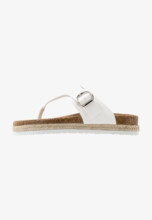 FABLE FOOTBED TOE POST - Tongs - white