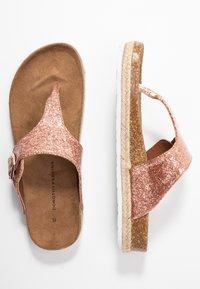Dorothy Perkins - FABLE FOOTBED TOE POST - tåsandaler - rose gold glitter - 3
