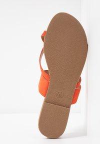 Dorothy Perkins - FANTASY TOELOOP MULE - Sandály s odděleným palcem - orange - 6