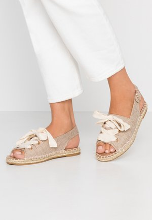FILIPA LACE UP  - Espadrilles - taupe