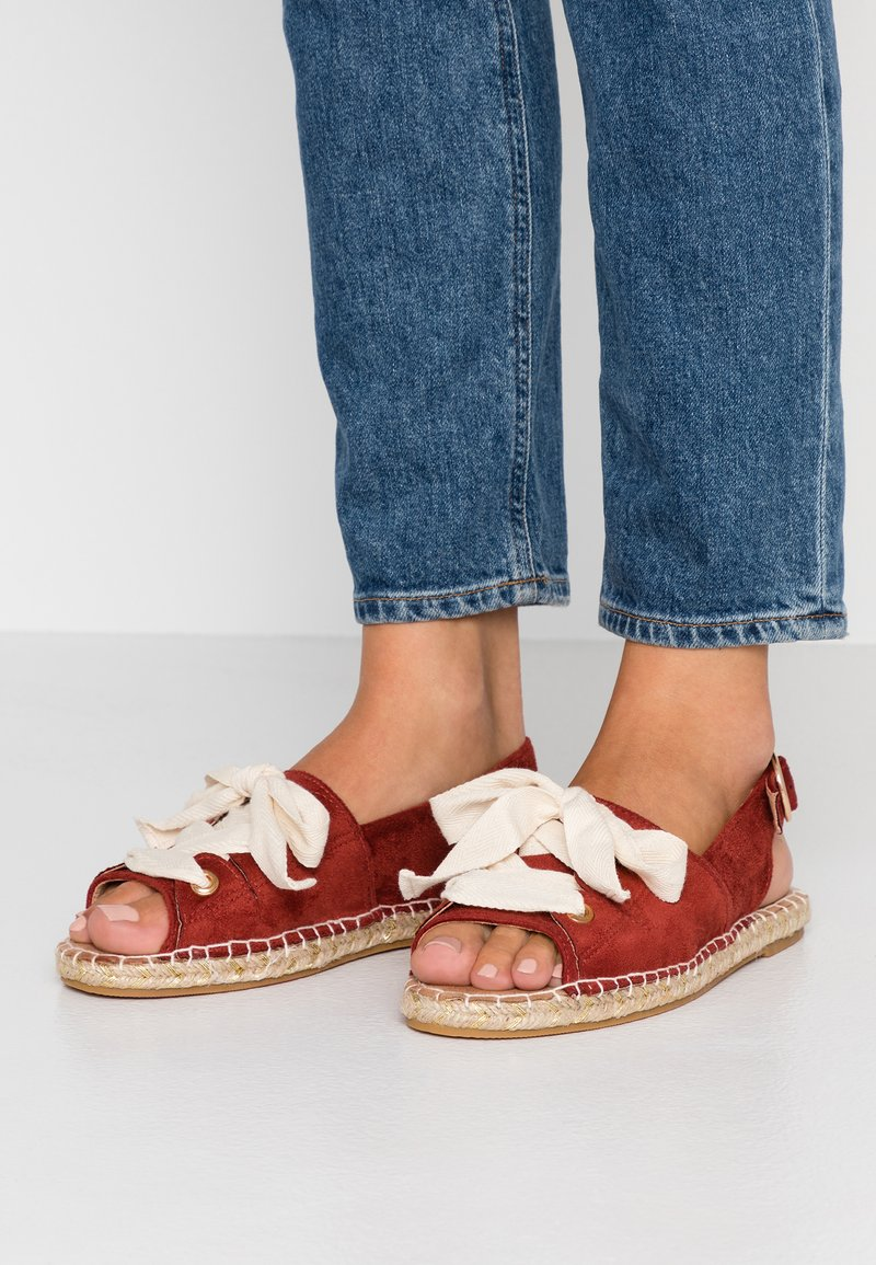 Dorothy Perkins - FILIPA LACE UP  - Loafers - rust