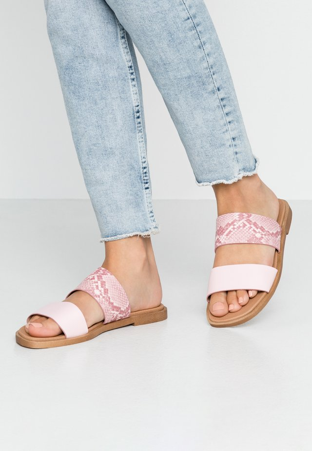 FRANK COMFORT FOOTBED - Mules - pink