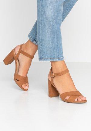 SERENA UPDATE - Højhælede sandaletter / Højhælede sandaler - tan