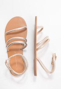 Dorothy Perkins - TUBULAR - Sandals - gold metallic - 3