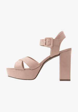 BOPPITY CROSS CHUNKY - High heeled sandals - nude