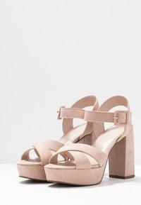 Dorothy Perkins - BOPPITY CROSS CHUNKY - Sandály na vysokém podpatku - nude - 4