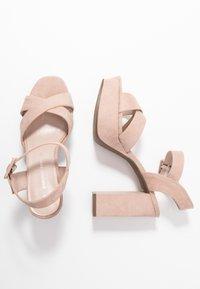 Dorothy Perkins - BOPPITY CROSS CHUNKY - Sandály na vysokém podpatku - nude - 3