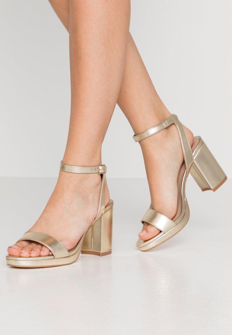 Dorothy Perkins - SENSATE PLATFORM - High heeled sandals - gold
