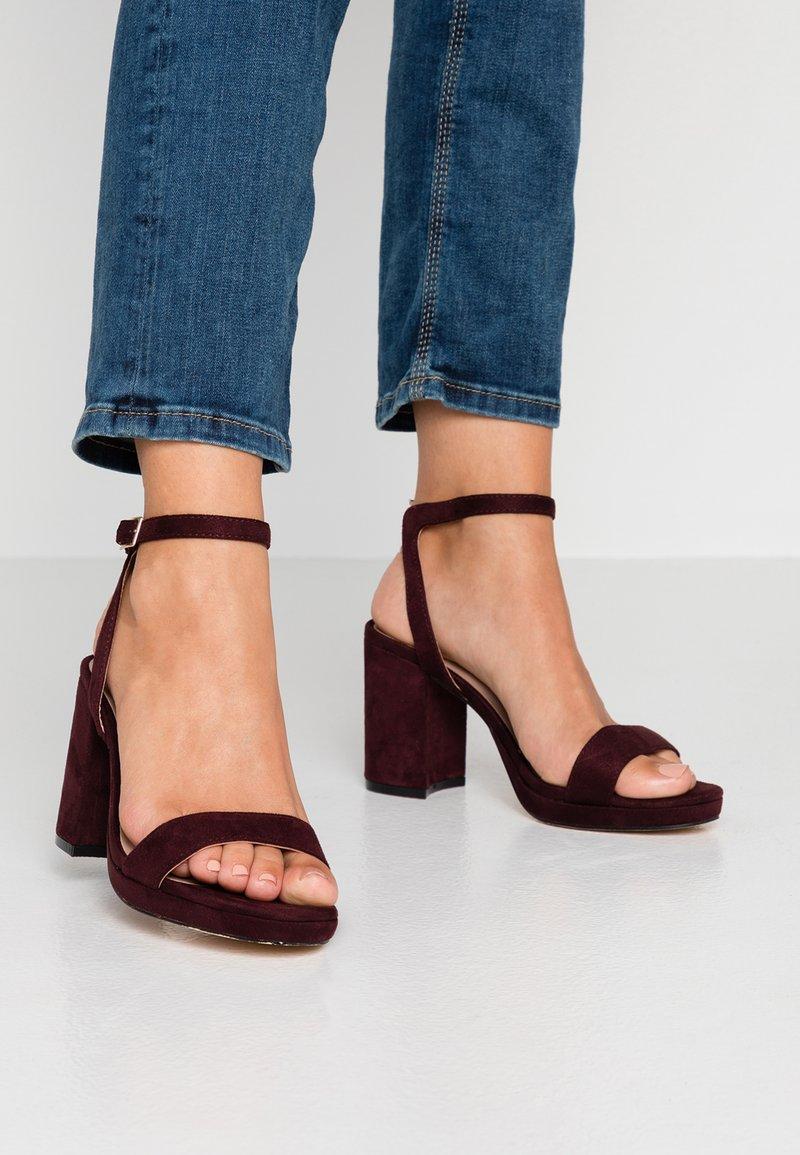 Dorothy Perkins - SENSATE PLATFORM - High heeled sandals - burgundy