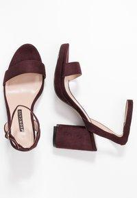 Dorothy Perkins - SENSATE PLATFORM - High heeled sandals - burgundy - 3