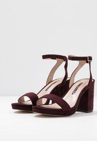 Dorothy Perkins - SENSATE PLATFORM - High heeled sandals - burgundy - 4