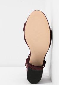 Dorothy Perkins - SENSATE PLATFORM - High heeled sandals - burgundy - 6