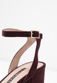 Dorothy Perkins - SENSATE PLATFORM - High heeled sandals - burgundy - 2