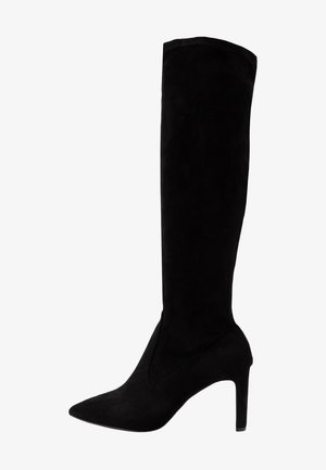 KENDRA HEELED STRETCH POINT BOOT - Vysoká obuv - black