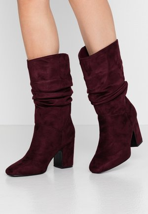 KIND RUCHED 3/4 BOOT - Boots - burgundy