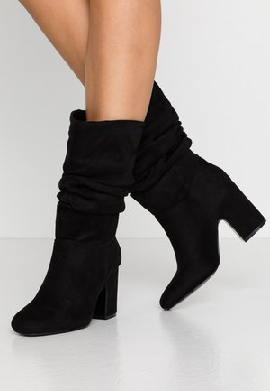KIND RUCHED 3/4 BOOT - Boots - black
