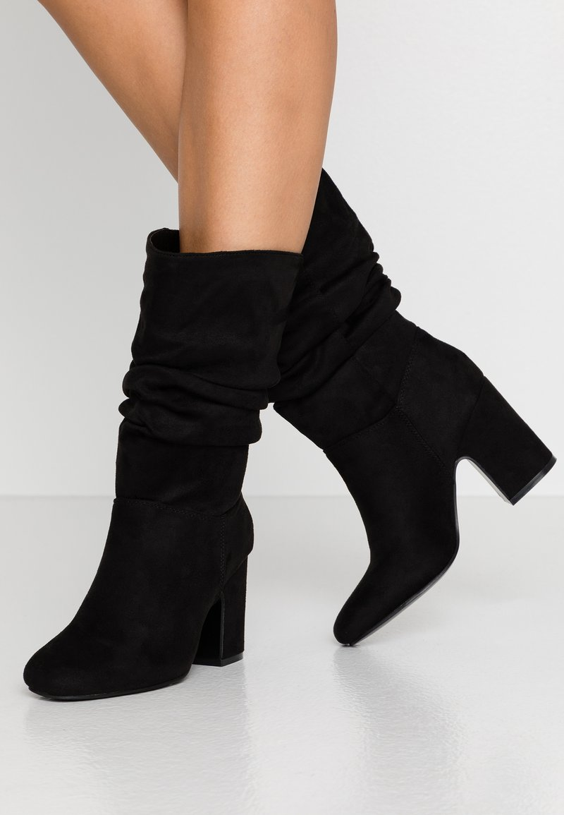 Dorothy Perkins - KIND RUCHED 3/4 BOOT - Boots - black