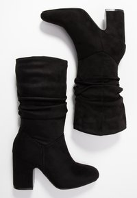 Dorothy Perkins - KIND RUCHED 3/4 BOOT - Boots - black - 3