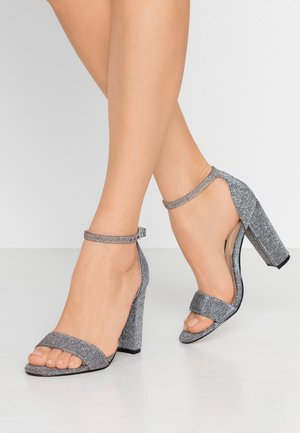BAMBAM 2 PART PATTERNED - High heeled sandals - silver