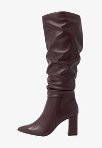 Dorothy Perkins - KHLOE POINT RUCHE LONG PULL ON - Boots med høye hæler - burg - 1