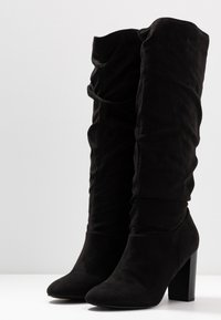 Dorothy Perkins - KISS PULL ON BOOT - High Heel Stiefel - black - 4