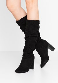 Dorothy Perkins - KISS PULL ON BOOT - High Heel Stiefel - black - 0