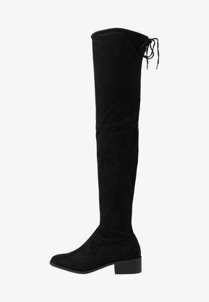 TRALLALA TIE BACK LONG STRETCH BOOT - Høye støvler - black