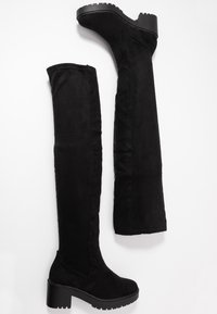 Dorothy Perkins - TRISTIANNA CLEATED HEELED LONG BOOT - Over-the-knee boots - black - 3