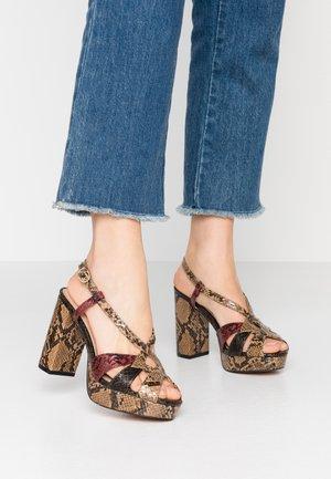 SAVANA PLATFORM PRESS - High heeled sandals - brown