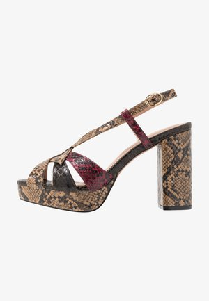 SAVANA PLATFORM PRESS - High Heel Sandalette - brown
