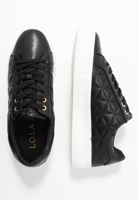 Dorothy Perkins - LOLA SKYE LIZZIE LACE UP QUILTED TRAINER - Trainers - black - 3