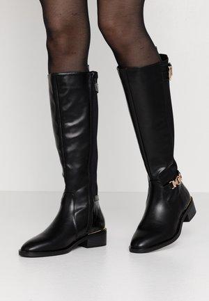KIKKILA RIDING BOOT - Kovbojské/motorkářské boty - black